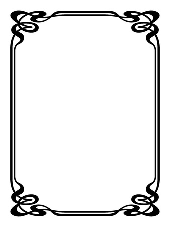 art nouveau modern ornamental decorative frame Vector
