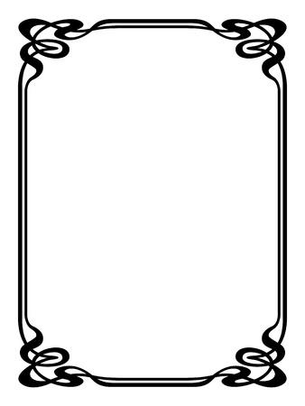 art deco design: art nouveau modern ornamental decorative frame