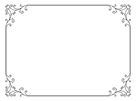 calligraph: simple calligraph ornamental decorative frame pattern