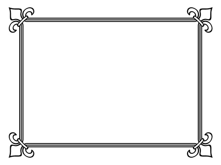 borderframe: black frame royal lily in corner Illustration