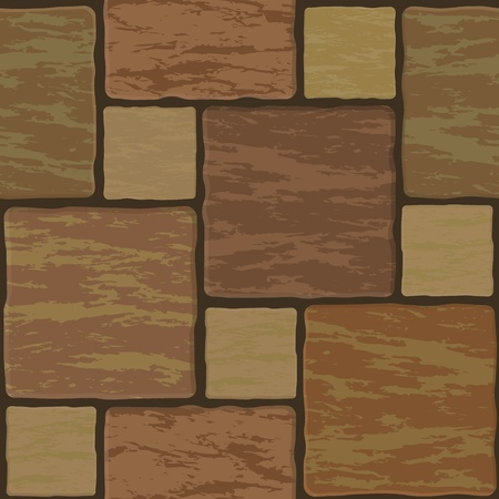 mosaic floor: Seamless texture of different colors stonewall tile