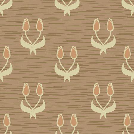 abstract tulip flowers seamless background pattern Stock Vector - 12494809