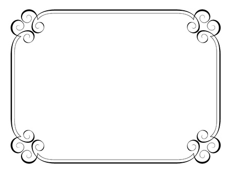 calligraphy penmanship ornamental deco frame pattern Illustration