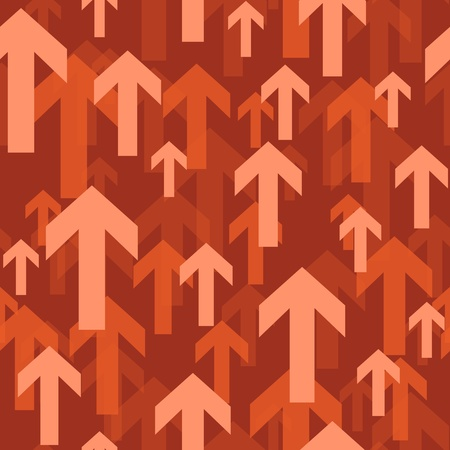 action fund: red flying arrow seamless background pattern