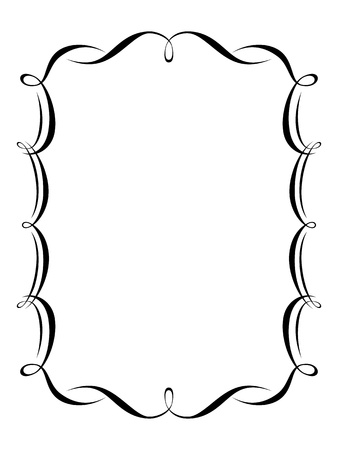calligraphy penmanship ornamental deco frame pattern Stock Photo - 12727860