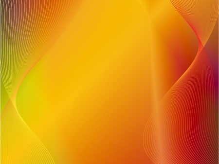 yellow orange gold abstract light background with wave  Vector