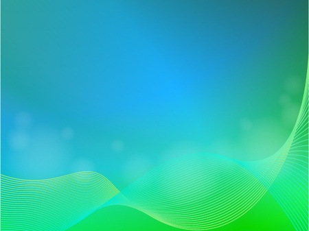 Green blue abstract light background with wave Vector