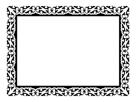 simple calligraph ornamental decorative frame pattern Stock Vector - 12494820