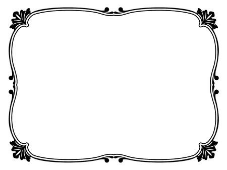 達筆で書く簡単な装飾用の装飾的なフレームのパターン