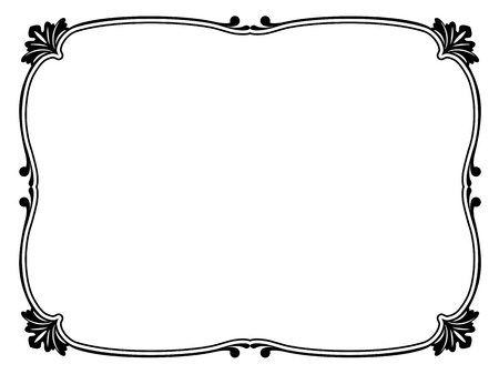 borderframe: simple calligraph ornamental decorative frame pattern