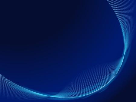 blue smooth waves dark design template frame Stock Vector - 12932498