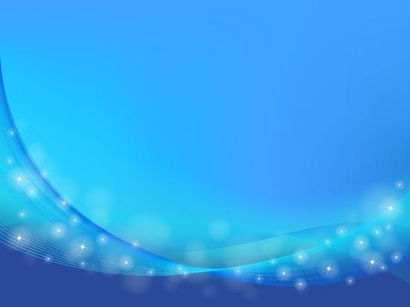 파도와 벡터 블루 추상적 인 배경