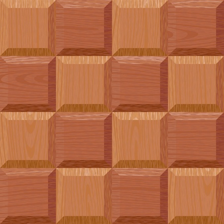 seamless old light oak square parquet panel wall texture Vector