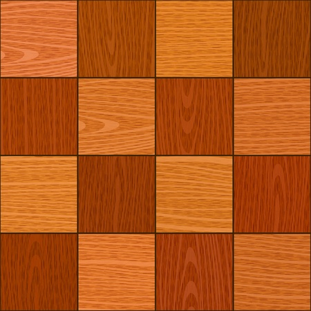 seamless oak square chess like parquet panel texture background Vector