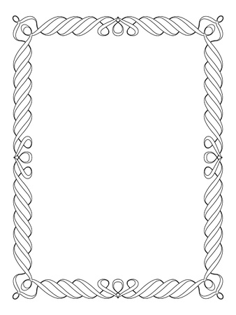 Calligraphy penmanship ornamental deco frame pattern Stock Photo - 13023934
