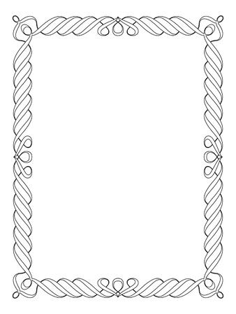 Kalligrafie kalligrafie sier deco frame patroon