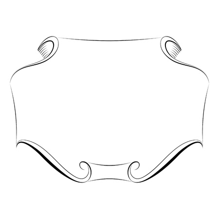 kalligrafie kalligrafie krullend barok frame zwarte geïsoleerde