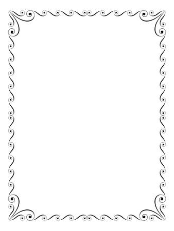 calligraphy penmanship ornamental deco frame black
