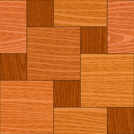 square detail: seamless old light oak square parquet panel wall texture Illustration