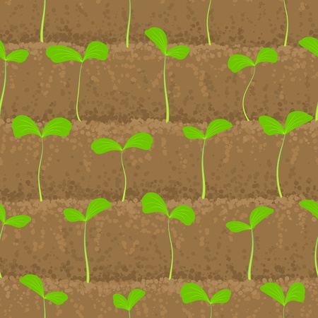 origins: sprout, shoot vegetable patches in row seamless background