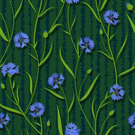 seamless cornflower green blue pattern background vector Stock Vector - 13551607