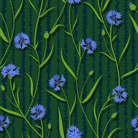 seamless cornflower green blue pattern background vector Stock Vector - 13551607