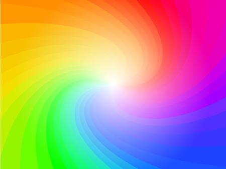 抽象的な虹のスワール カラフルなパターンのベクトルの背景  イラスト・ベクター素材