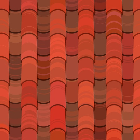 endless repeat structure: red clay ceramic roof tiles seamless texture