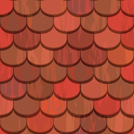 red clay ceramic roof tiles seamless texture Vector
