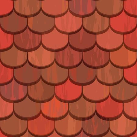 rotem Ton Keramik Dachziegel nahtlose Textur Vektorgrafik