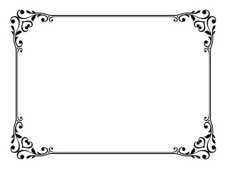 Vector kalligrafie kalligrafie sier deco kaderpatroon Stock Illustratie
