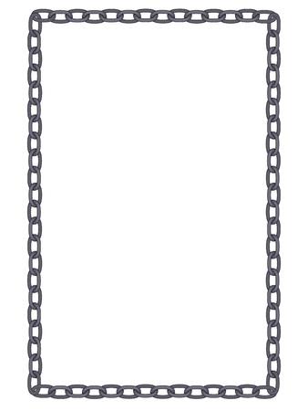 Duidelijke en eenvoudige metalen ketting frame geïsoleerde