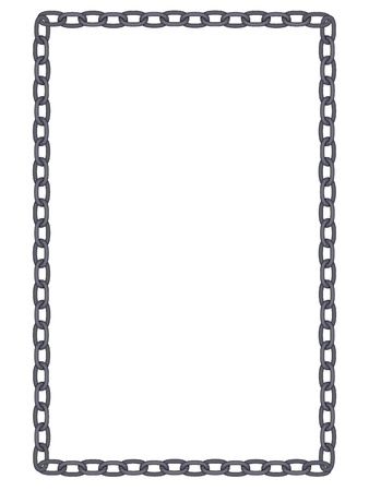 Plain and simple metal chain frame isolated Vector