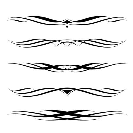 Set van decoratieve elementen, grens-en pagina-regels kader