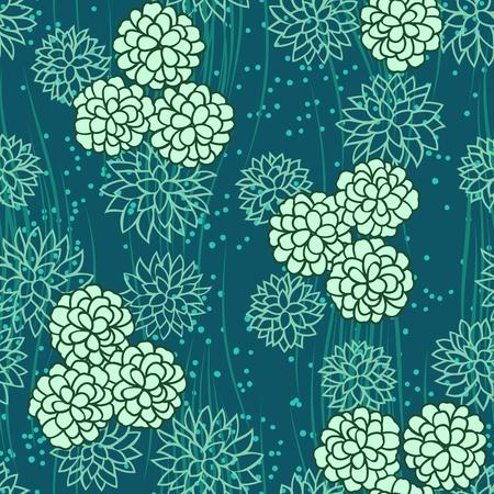 抽象的な花花緑シームレスな背景