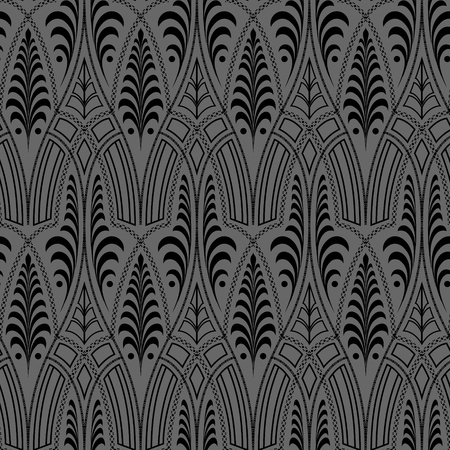 seamless black floral abstract wallpaper pattern background Stock Vector - 14971311