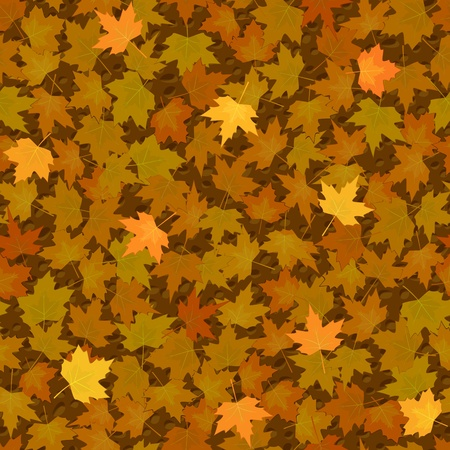 vector autumn yellow maple leaf seamless background pattern Vector