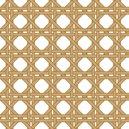 naadloze stro, rieten geweven geïsoleerd op een witte achtergrond van de Stock Illustratie