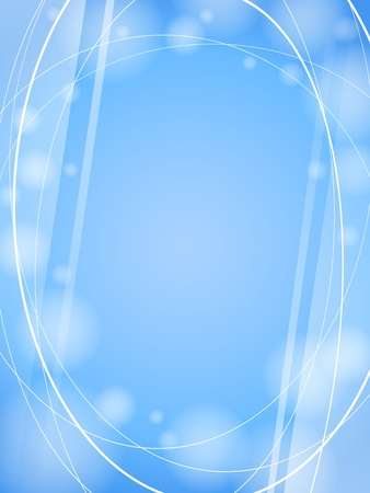 blue smooth waves light design template frame EPS10 background Vector