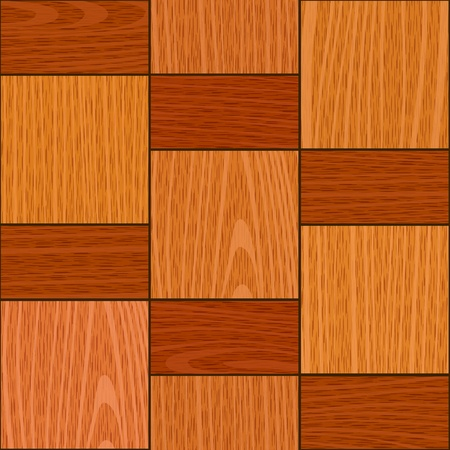 seamless old light oak square parquet panel wall texture Stock Vector - 15254709