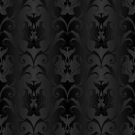siyah: kesintisiz siyah çiçek soyut duvar kağıdı desenli arka Çizim