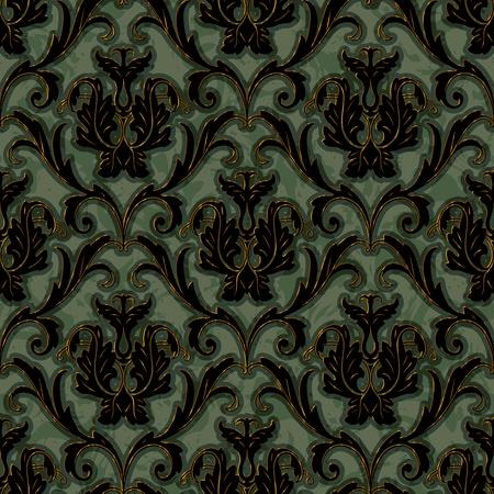 brocade: seamless floral damask brocade pattern background