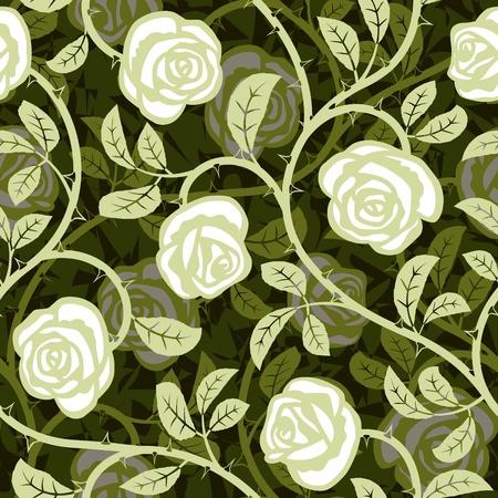 식물상: 원활한 추상 로맨틱 흰색 배경 디자인 패턴