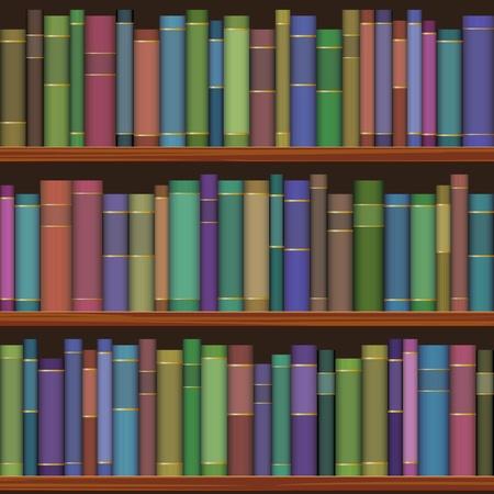 古書とシームレスな図書館の棚