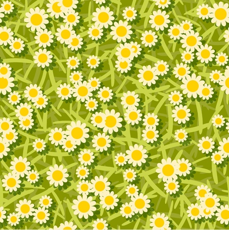 yellow white flowers seamless background pattern Stock Vector - 16885117