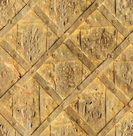 seamless old rust door bind with iron nailed metal texture Stock Photo - 17112693