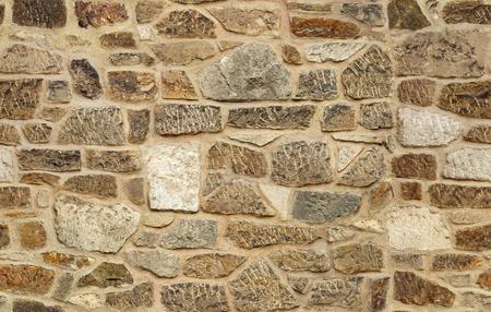 シームレスな切石古い石造りの壁テクスチャ背景 写真素材