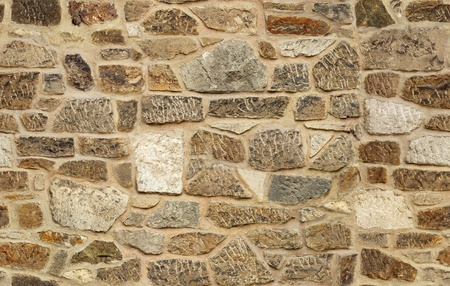 seamless ashlar old stone wall texture background photo