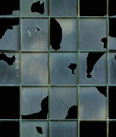 seamless window with broken glass texture background photo