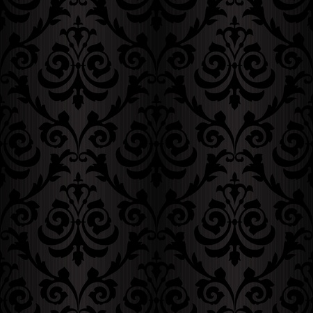 seamless black silk floral abstract wallpaper pattern background